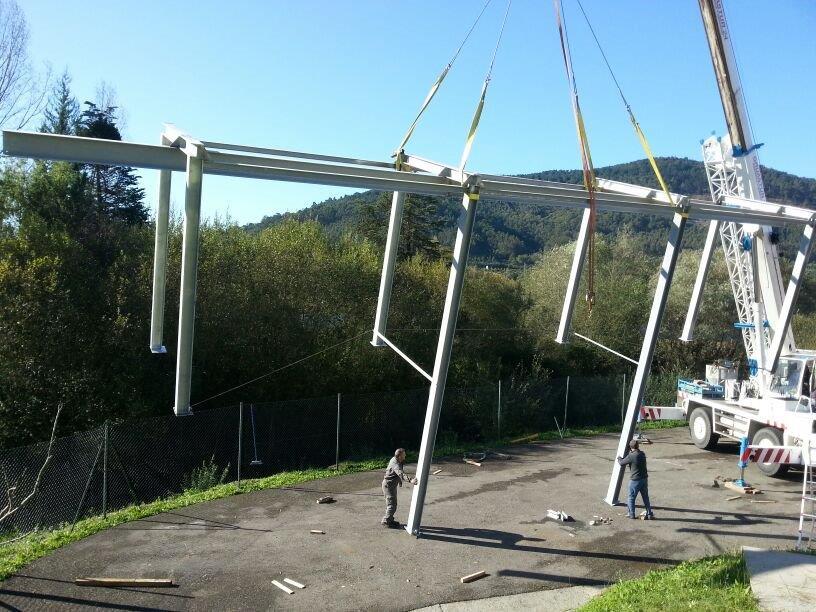 Estructura grua montaje